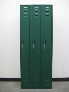 Green School Metal Lockers 27 w X 15 d X 72 h