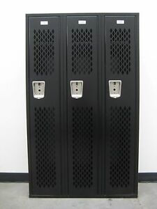 Black Gym Lockers 36 W X 12 D X 60 H