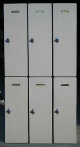 Used Wood Lockers 36 W X 21 D X 72 H