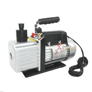 4 8cfm 1 3 Hp Rotary Vane Deep Vacuum Pump Hvac Tool For Ac R410a R134 R22