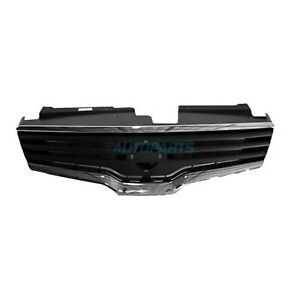 Front Grille Black With Chrome Moldings Fits 2007 2009 Nissan Altima Ni1200221