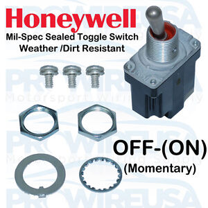 Honeywell Sealed Milspec Off on Toggle Switch Ms24523 30 1tl1 6 Nascar Switch