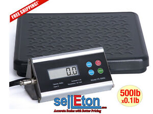 New 500 Lb Shipping Scale Postal Bench Floor Scale Digital With Free Shipping