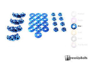 Dress Up Bolts For 99 04 Ford Mustang Gt Cobra Blue Titanium Engine Bay Kit