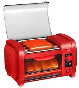 Hot Dog Sausage Steamer Grill Roller Throwback Buns Warmer Home Kitchen Cooking