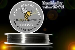 Ni200 500 Ft 22 Gauge Awg Pure Nickel 200 Non Resistance Wire 0 64mm 22g 500