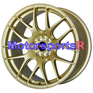 530 Gold 17 17x8 25 Xxr Wheels Rims Concave 5x114 3 02 03 04 06 Acura Rsx Type S