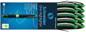 Schneider One Highlighter Chisel Tip box Of 10 green 118004