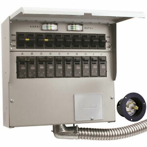 Reliance Controls Pro tran 2 30 amp 120 240v 10 circuit Transfer Switch