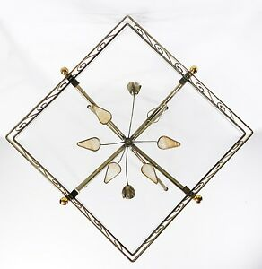 Vintage Modernist Hollywood Regency Brass Floral Wire Side End Table Stand