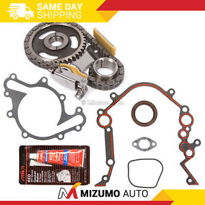 Timing Chain Kit Cover Gasket Fit 90 04 Ford E150 F150 F250 Mustang 3 8 3 9 4 2