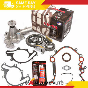 Timing Chain Kit Water Pump Cover Gasket Fit 96 04 Ford Thunderbird Mercury 3 8