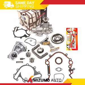 Timing Chain Kit Water Oil Pump Cover Gasket Fit 97 03 Ford E150 E250 F150 4 2
