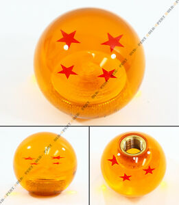M12 X 1 25 Dragon Ball Z 4 Star Style Round Shift Knob For Ford Focus Mustang