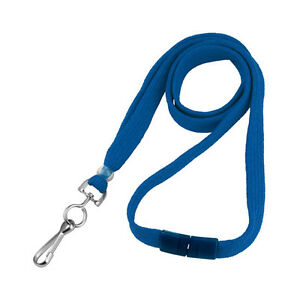 Qty 100 Royal Blue 3 8 Flat Braid Lanyard W Safety Breakaway Bl 34s rblu