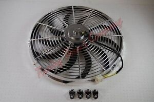 New 16 Chrome Reversible Electric Cooling Fan S Blade 2300 Cfm