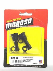 Moroso 22010 Oil Galley Restrictors For Small Big Block Chevy Restricts To 060