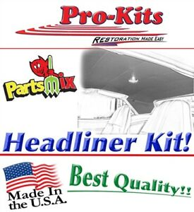 67 69 Cuda Fastback 5 Bow Headliner Non Perforated