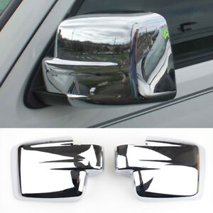 2pcs Chrome Door Side Mirror Trim Covers For Jeep Patriot Liberty
