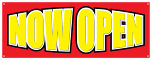 Now Open Grand Opening New Store Business Sale Sign 48x120