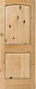 2 Panel Arch Top Knotty Alder Raised Solid Core Interior Wood 6 8 Doors Slabs