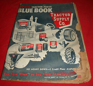 drawer 18 Vintage 1964 Tractor Supply Company Tractor Parts Blue Book
