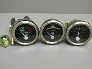 Temp Amp Oil Gauge Set For Farmall Ih H M Sh Sm Smd Smta O W4 W6 Wd6 Sw I4 I6 I9