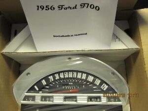 1956 Ford F100 Gauge Set Classic Instruments With Tach Ft56bt With Send Units