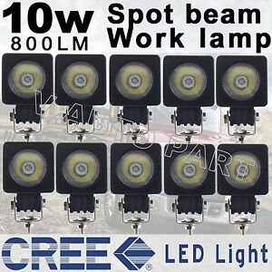 10x 10w Cree Led Work Light Spot Pencil Driving Fog Lamp For Car Motorcycle Boat