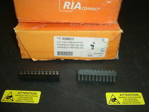 31049111 Ria Connect Terminal Block F 11 Pos Lot Of 100 Units In Box