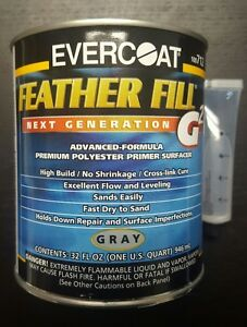 Evercoat Featherfill G2 Primer Gray Color Quart Size