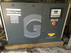 Atlas Copco Ga18 Rotary Screw Air Compressor 25 Hp