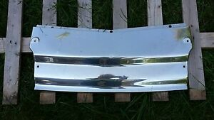 1950s Chevy Car Stainless Steel Filler Panel Trim Under Hood