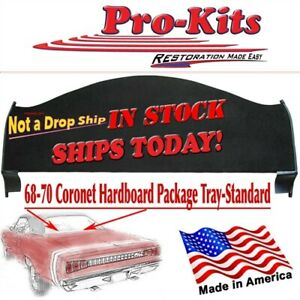Fits 68 69 70 Coronet Roadrunner Gtx 2 Door Rear Window Package Tray Shelf
