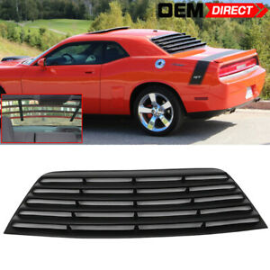 Fit For 08 16 Dodge Challenger Rear Window Louver Black Pur