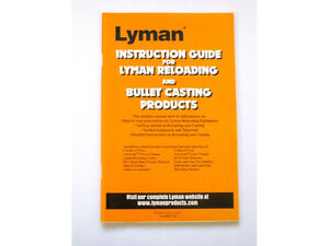Lyman Reloading and Bullet Casting Instruction Guide # 9837283 New $7.98