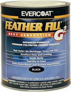 Evercoat Featherfill G2 Primer Black Color Gallon Size