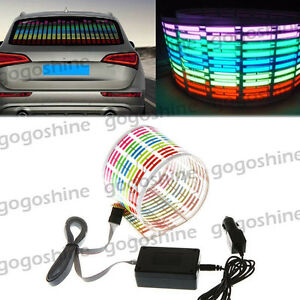 Car Sticker Music Rhythm Led Flash Light Sound Activated Equalizer Lamp 45 11cm