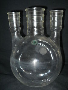 Ace Glass 2000ml 2l Vertical 3 neck 45 50 29 42 Round Bottom Flask 6944