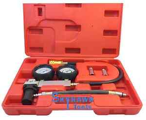 Cylinder Leak Down Tester Leakage Leak Detector Engine Compression Gauges W Case