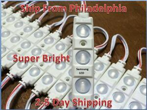 50ft Sansung 5630 Super Bright Led Module White Lens Cool White Waterproof 12v
