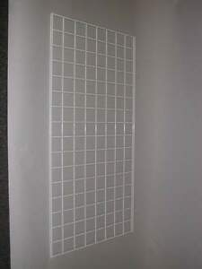 Pack Of Three 2x5 Gridwall Panels White Color