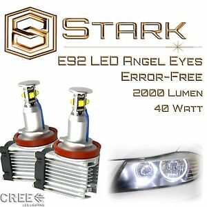 Angel Eyes 40w H8 White Hid Xenon 6000k Halo Ring Led Light E92 Coupe 2007 2013