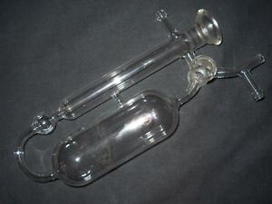 Ace Glass Reservoir Distillation Apparatus 3 way 4mm Stopcock 35 25 Spherical