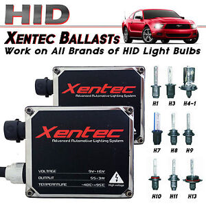 Two Xentec Xenon Lights 55w Hid Kit s Replacement Ballasts H4 H7 H11 H13 9006