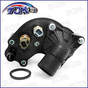 New Thermostat Housing W Sensors For 97 01 Ford Explorer Mountaineer 4 0l V6