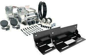 Viair Dual 400c Chrome Fast Fill Air Compressors With Truck Mounting Brackets
