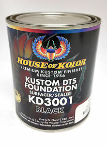 House Of Kolor Dts Foundation Primer Surfacer sealer Black Quart