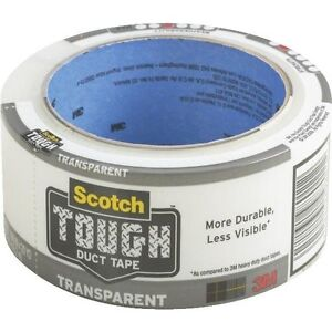 3m Scotch Transparent Duct Tape Case Of 12 Free Shipping