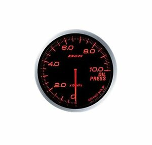 Defi Df10202 Advance Bf Oil Pressure Metric Gauge Red 60mm